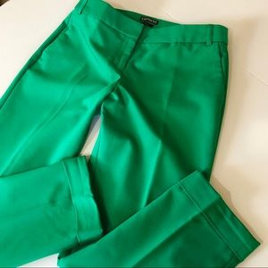 [Express]  Kelly Green Editor Ankle Crop Pants 6